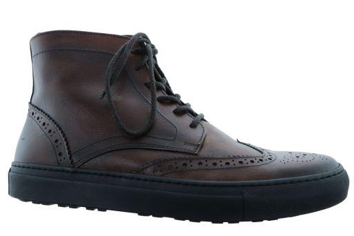 hoge schoen van  giorgio artikel: 9807401260 palm cognac