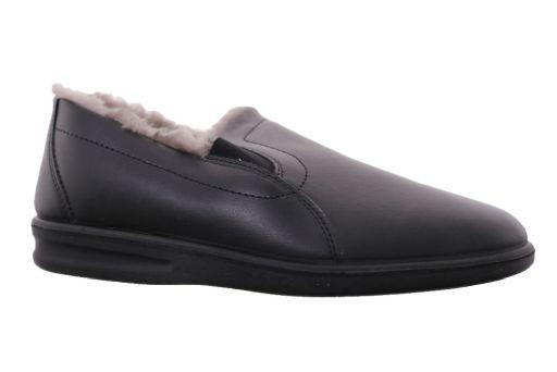 pantoffel leder van  romika artikel: 7301749100 zwart wol