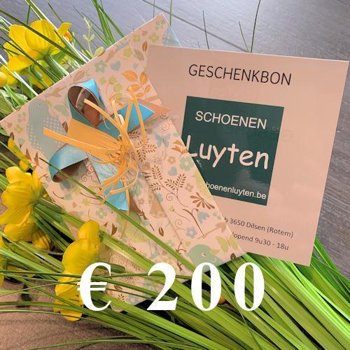geschenkbon €200